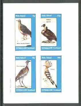 Eynhallow 1982 Birds #23 (Pigeon, Vulture, Bustard & Hoopoe) imperf set of 4 values unmounted mint