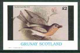 Grunay 1982 Birds #08 (American Blue Bird) imperf deluxe sheet (�2 value) unmounted mint