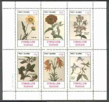 Eynhallow 1982 Flowers #25 (Galardia, Zinnia, Rhexia, Bittersweet, Lily & Virgin's Bower) perf set of 6 values unmounted mint