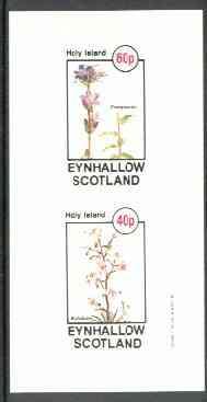 Eynhallow 1982 Flowers #26 (Campanula & Stylidium) imperf set of 2 values unmounted mint