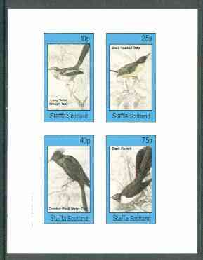 Staffa 1982 Birds #63 (Tody x 2, Chat & Fantail) imperf set of 4 values unmounted mint