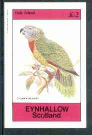 Eynhallow 1982 Parrots #02 imperf deluxe sheet (�2 value) unmounted mint