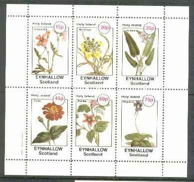 Eynhallow 1982 Flowers #27 (Crane's Bill, Wall-Flower, Pontederia, Zinnia, Bramble & Pinguicula) perf set of 6 values unmounted mint