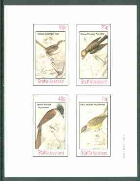 Staffa 1982 Birds #64 (Tody, Flat Bill & Flycatcher x 2) imperf set of 4 values unmounted mint
