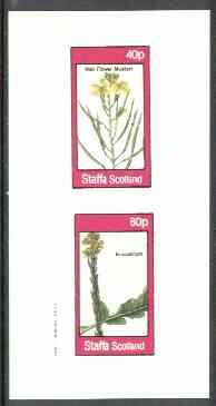 Staffa 1982 Flowers #28 (Wall Flower Mustard & Erucastrum) imperf set of 2 values unmounted mint