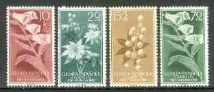 Spanish Guinea 1959 Child Welfare Fund (Flowers) set of 4 unmounted mint, SG 444-47*