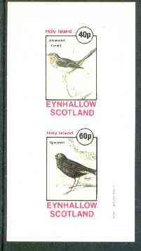 Eynhallow 1982 Birds #24 (Whiskered Fantail & Spectacle Bird) imperf set of 2 values unmounted mint