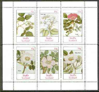 Staffa 1982 Plants #03 (Raspberry, Pear Tree & Roses x 4) perf  set of 6 values unmounted mint