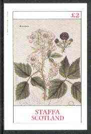 Staffa 1982 Plants #03 (Bramble) imperf  deluxe sheet (�2 value) unmounted mint