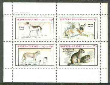 Bernera 1982 Dogs (Oriental, Dog of the Indians, etc) perf set of 4 values unmounted mint