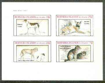 Bernera 1982 Dogs (Oriental, Dog of the Indians, etc) imperf set of 4 values unmounted mint