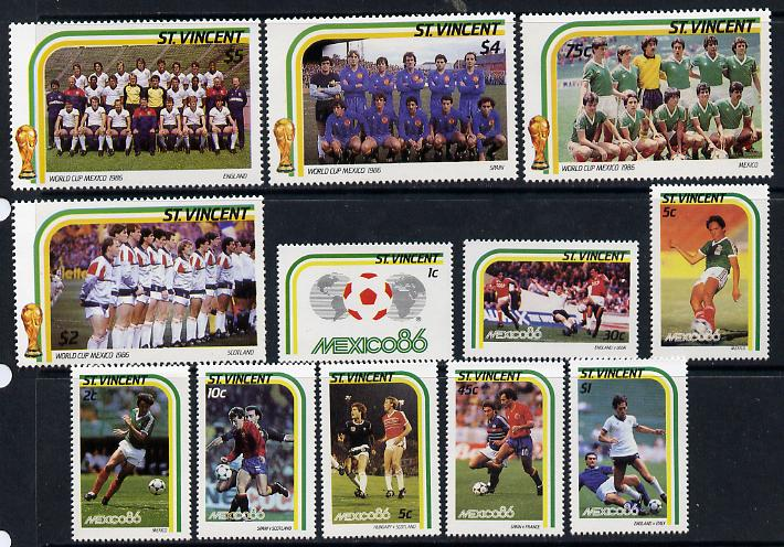 St Vincent 1986 World Cup Football set of 12 unmounted mint SG 983-94