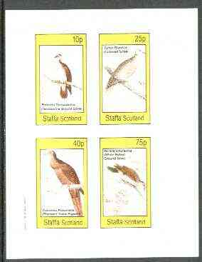 Staffa 1982 Pigeons & Doves imperf set of 4 values unmounted mint