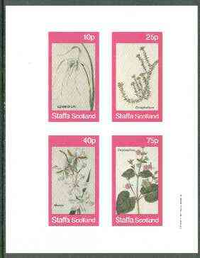 Staffa 1982 Flowers #29 (Morea, Oxybaphus, etc) imperf set of 4 values unmounted mint