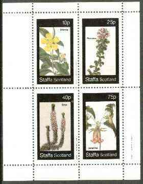 Staffa 1982 Flowers #31 (Dillenia, Psoralea, Erica & Canarina) perf set of 4 values unmounted mint