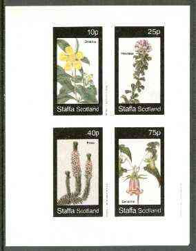 Staffa 1982 Flowers #31 (Dillenia, Psoralea, Erica & Canarina) imperf set of 4 values unmounted mint
