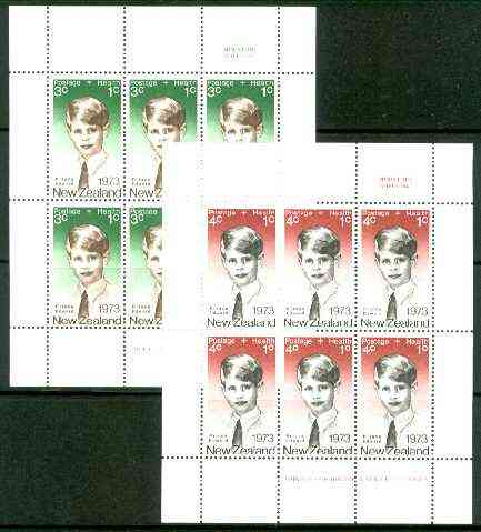 New Zealand 1973 Health - Prince Edward set of 2 m/sheets unmounted mint SG MS 1033
