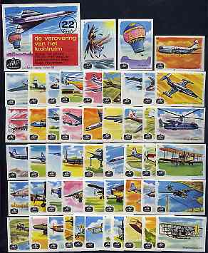 Match Box Labels -  Complete set of 50 + 1 Flight Through the Ages (AHP Voop Kwaliteit)
