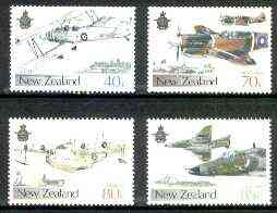 New Zealand 1987 50th Anniversary of Royal New Zealand Air Force set of 4 unmounted mint, SG 1423-26*
