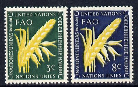 United Nations (NY) 1954 Food & Agriculture set of 2 unmounted mint (SG 23-24)