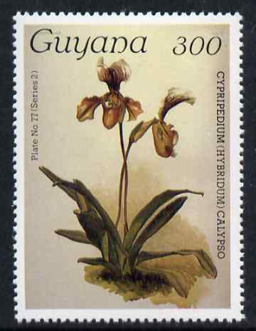 Guyana 1985-89 Orchids Series 2 plate 77 (Sanders' Reichenbachia) 300c unmounted mint, value unlisted by SG*