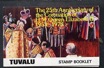Booklet - Tuvalu 1978 Coronation 25th Anniversary Booklet (Westminster Abbey) SG SB1
