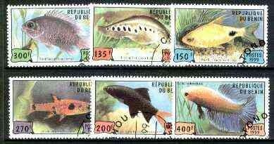 Benin 1999 Fish complete perf set of 6 values cto used*