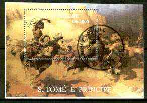 St Thomas & Prince Islands 1999 Wild West m/sheet fine cto used