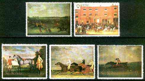 St Kilda 1969 Painting of Horses perf set of 5 values only (5d, 1s, 1s6d, 2s6d & 5s) unmounted mint*