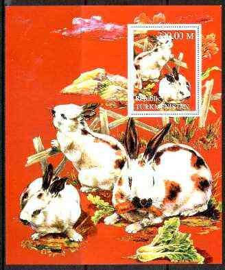 Turkmenistan 1998 Chinese New Year - Year of the Rabbit perf souvenir sheet unmounted mint