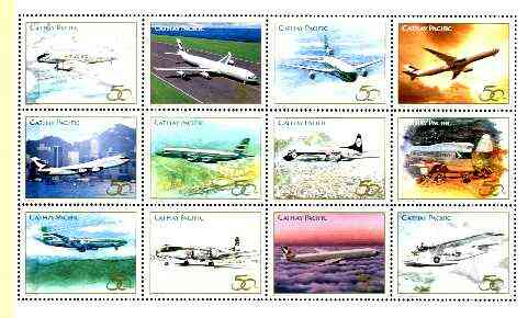 Cinderella - 1996 set of 12 aircraft specially produced for 50th Anniversary of Cathay Pacific unmounted mint