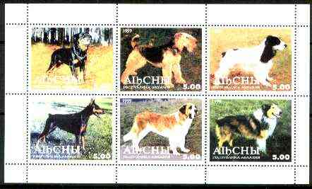 Abkhazia 1999 Dogs perf sheetlet containing set of 6 values unmounted mint