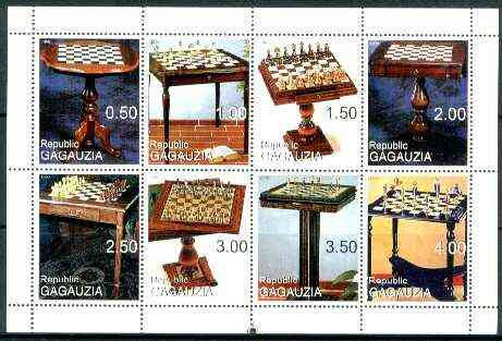 Gagauzia Republic 1999 Chess perf sheetlet containing set of 8 values unmounted mint