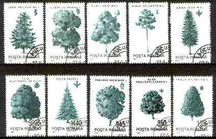 Rumania 1994 Trees complete set of 10 very fine cds used, SG 5615-24, Mi 4982-91*