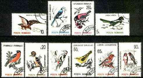 Rumania 1993 Birds set of 10 fine cds used, SG 5510-19, Mi 4875-86*