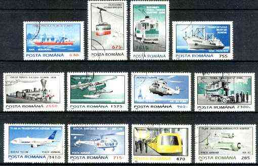 Rumania 1995 Transport complete set of 12 very fine cto used, SG 5712-23, Mi 5087-92 & 5141-46*