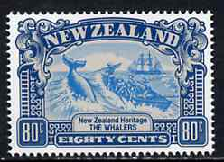 New Zealand 1988 Whaling 80c (from Heritage set 2nd issue) unmounted mint, SG 1508