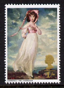 Great Britain 1968 British Paintings 1s (Pinkie) unmounted mint with phosphor omitted (SG 774d)