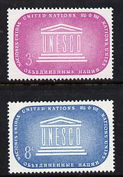 United Nations (NY) 1955 UNESCO set of 2 unmounted mint (SG 33-34)