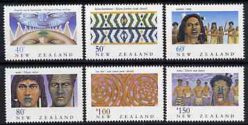 New Zealand 1990 NZ Heritage - 6th issue - The Maoris perf set of 6 unmounted mint, SG 1562-67