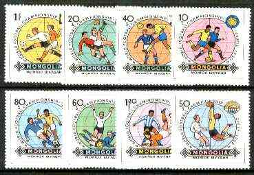 Mongolia 1982 Football World Cup Championships complete set of 8, unmounted mint SG 1439-46*