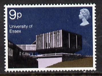 Great Britain 1971 British Architecture 9p (Essex University) unmounted mint with phosphor omitted (SG 893a)