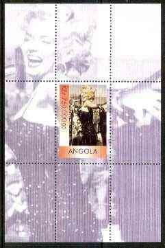 Angola 1999 Marilyn Monroe perf souvenir sheet unmounted mint