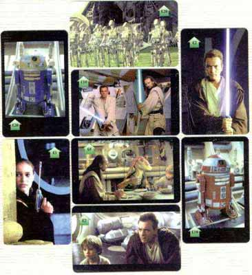 Telephone Card - Star Wars Phantom Menace set of 8 phone cards (\A31, 2 x \A32, \A35, 2 x \A310 & 2 x \A320)