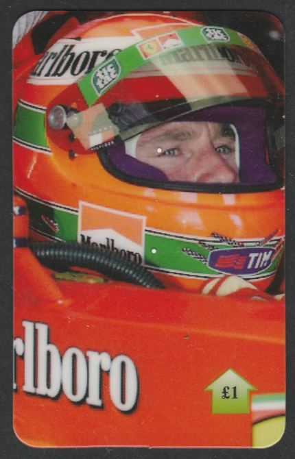 Telephone Card - Eddie Irvine �1 phone card (close up in cockpit) Limited Edition of just 500 cards