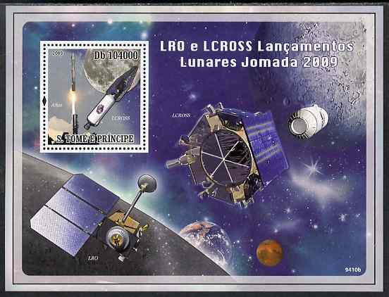 St Thomas & Prince Islands 2009 Space perf s/sheet unmounted mint