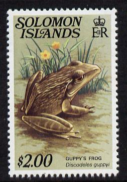 Solomon Islands 1979 Guppy's Frog $2 unmounted mint, from Reptiles def set, SG 402A