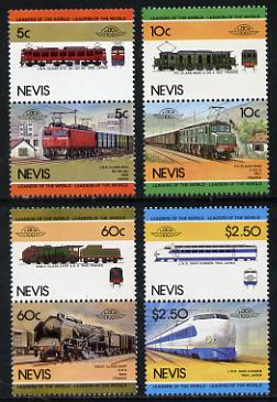 Nevis 1984 Locomotives #2 (Leaders of the World) unmounted mint set of 8 (SG 219-26
