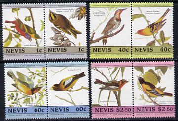 Nevis 1985 John Audubon Birds #2 (Leaders of the World) set of 8 unmounted mint SG 285-92