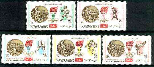 Yemen - Royalist 1968 Mexico Olympic Gold Medal Winners perf set of 5 unmounted mint, Mi 620-24A